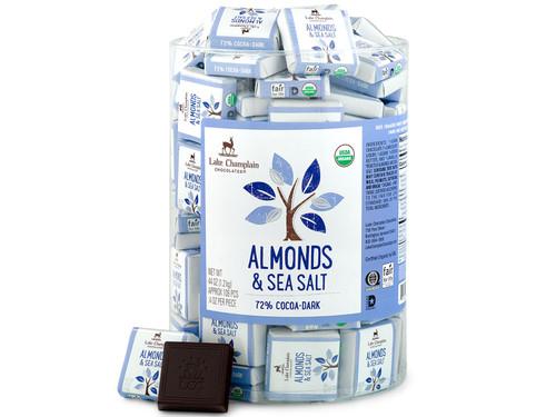 Organic Dark Chocolate Almonds & Sea Salt Squares in bulk View Product Image