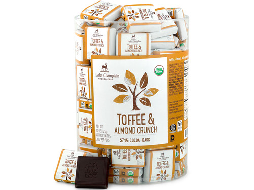 Organic Dark Chocolate Toffee & Almond Squares in bulk View Product Image