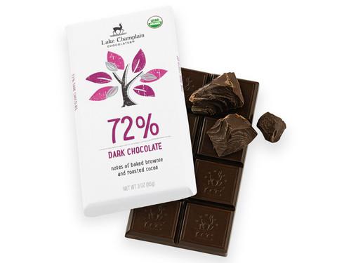 Organic 72% Dark Chocolate Bar  View Product Image