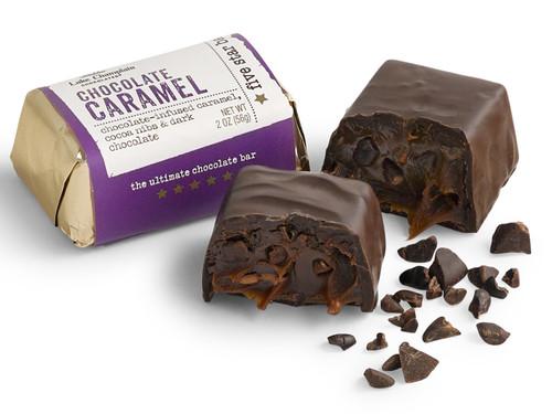 Dark Chocolate Caramel Five Star Bar View Product Image