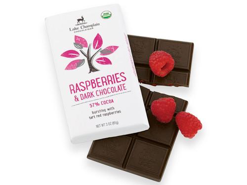 Organic Raspberry Dark Chocolate Candy Bar View Product Image