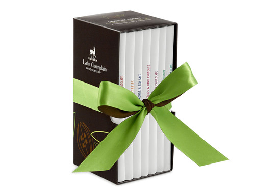Assorted Vegan Organic Chocolate Bar Library gift set View Product Image