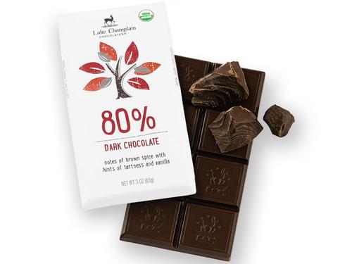 Organic 80% Extra Dark Chocolate Bar View Product Image