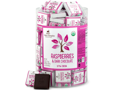 Organic Raspberries & Dark Chocolate Squares in bulk View Product Image