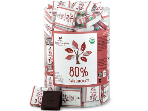 80% Organic Dark Chocolate Squares in bulk View Product Image