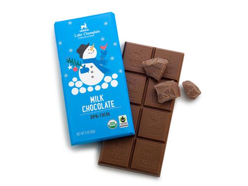 Organic milk chocolate holiday bar View Product Image