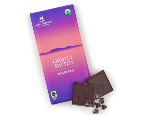 Lightly salted extra dark chocolate bar View Product Image
