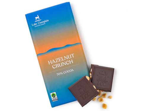 Hazelnut crunch extra dark chocolate bar View Product Image