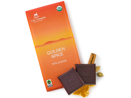 Golden spice turmeric extra dark chocolate bar  View Product Image