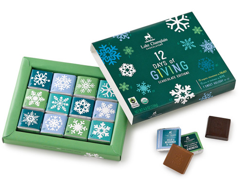 12 days of giving chocolate squares gift box View Product Image