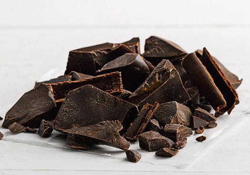 pile of dark chocolate blocks