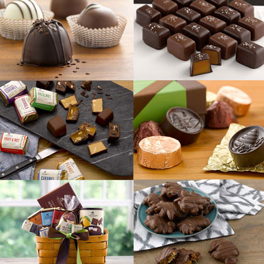 Assorted gourmet chocolate gifts