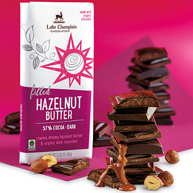 dark chocolate hazelnut butter bar