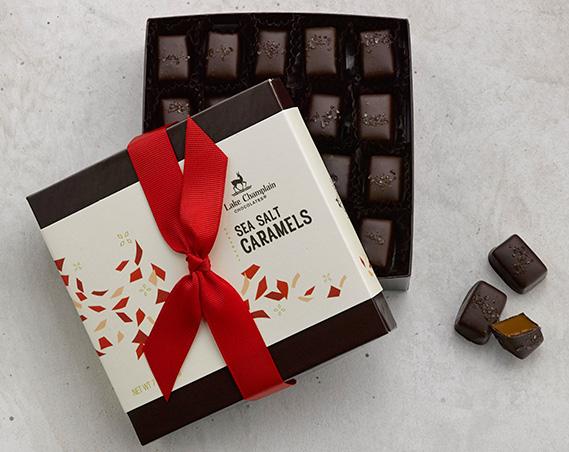 Milk chocolate apple cider caramel gift box