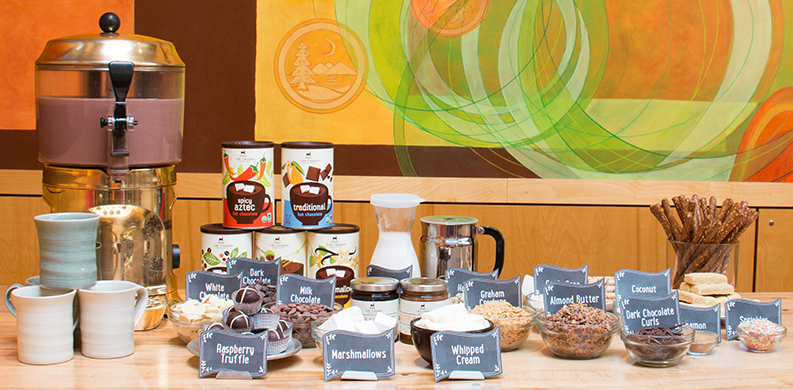 Do-it-yourself hot chocolate bar party