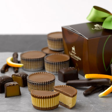 Assorted gourmet handcrafted chocolates