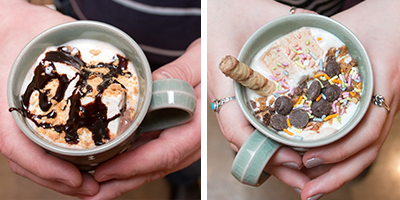 hot chocolate bar drink creations