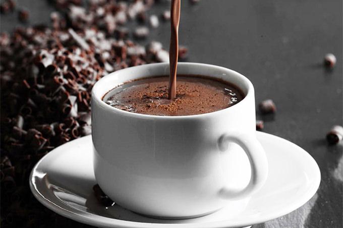 mug of dark drinking chocolate