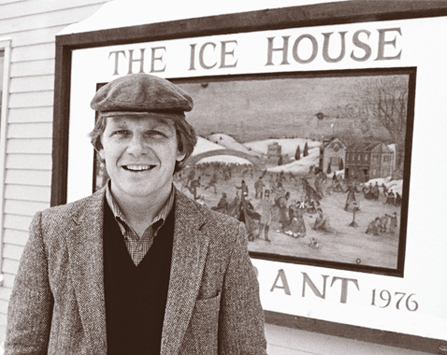 Jim in front of the Ice House Restaurant