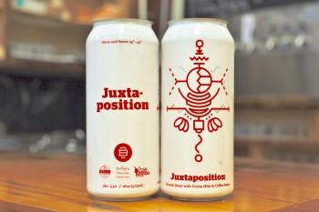 can of juxtaposition beer from Burlington Beer Company