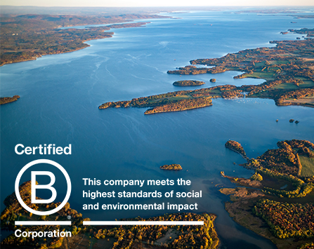 Lake Champlain with B Corp logo