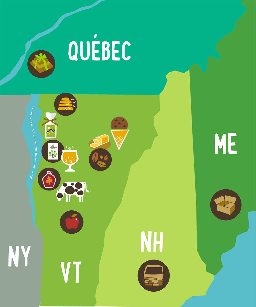 map of local, Vermont partners