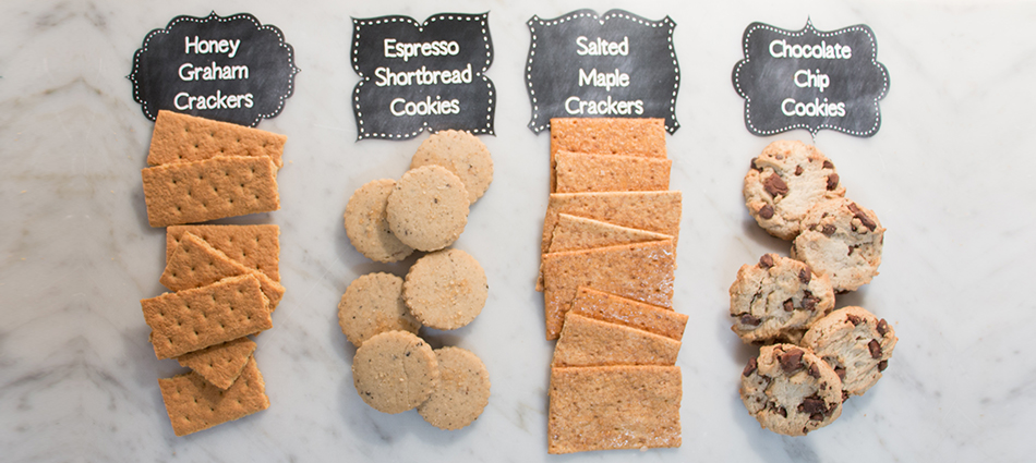 board of  s'mores cookie options
