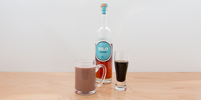 cacao vodka spiked hot chocolate
