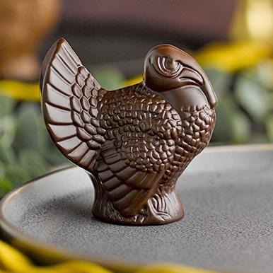 Dark chocolate Thanksgiving turkey favor