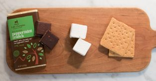 chocolate peppermint s'more