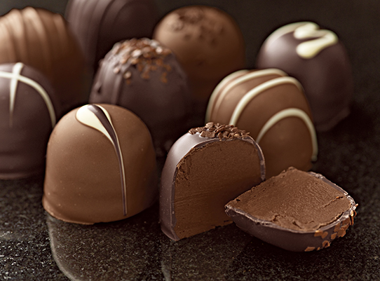 gourmet truffles on the table
