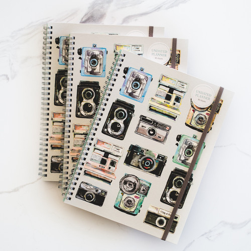 Cameras Undated Daily Planner Notebook