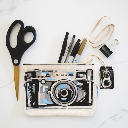 Vintage Camera Zipper Pouch