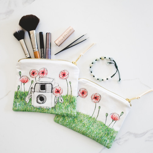Poppy Vintage Camera Makeup Bag