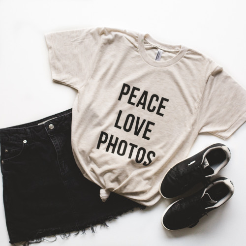 Peace Love Photos Tee