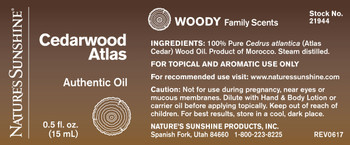 Cedarwood Atlas (15 ml) Not Available Until: 10/30/19