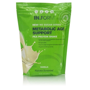 IN.FORM Metabolic Age Support Pea Protein Shake (765 g) - No Sugar Added