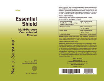 ESSENTIAL SHIELD Multi-Purpose Concentrated Cleaner (16 Fl Oz)