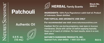 Patchouli Authentic Essential Oil(15 ml)