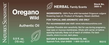Oregano, Wild Authentic Essential Oil (15 ml)