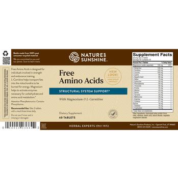 FREE AMINO ACIDS (60 Tabs)