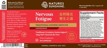 Nervous Fatigue TCM Concentrate (30 Caps)