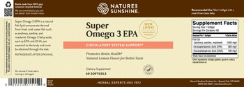 SUPER OMEGA-3 EPA (60 Softgel Caps)