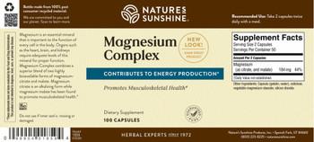 MAGNESIUM COMPLEX (100 Caps) [KO]