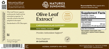 OLIVE LEAF EXTRACT CONCENTRATE (60 caps) [KO]