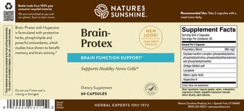 BRAIN PROTEX WITH HUPERZINE A (60 Caps)