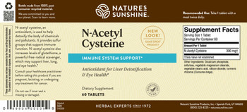 N-ACETYL CYSTEINE (300 mg) (60 Tabs) On B/O From NSP until: 11/19/21
