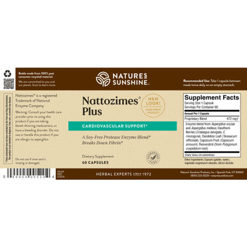NATTOZIMES PLUS (60 Caps) On B/O From NSP until: 3/26/21