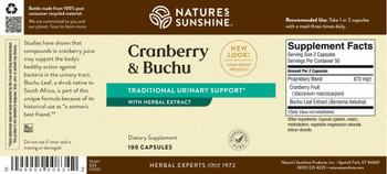 CRANBERRY & BUCHU CONCENTRATE (100 Caps) [KO]