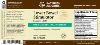 Lower Bowel Stimulator (Formerly LBS II®) (100 Caps) [KO]